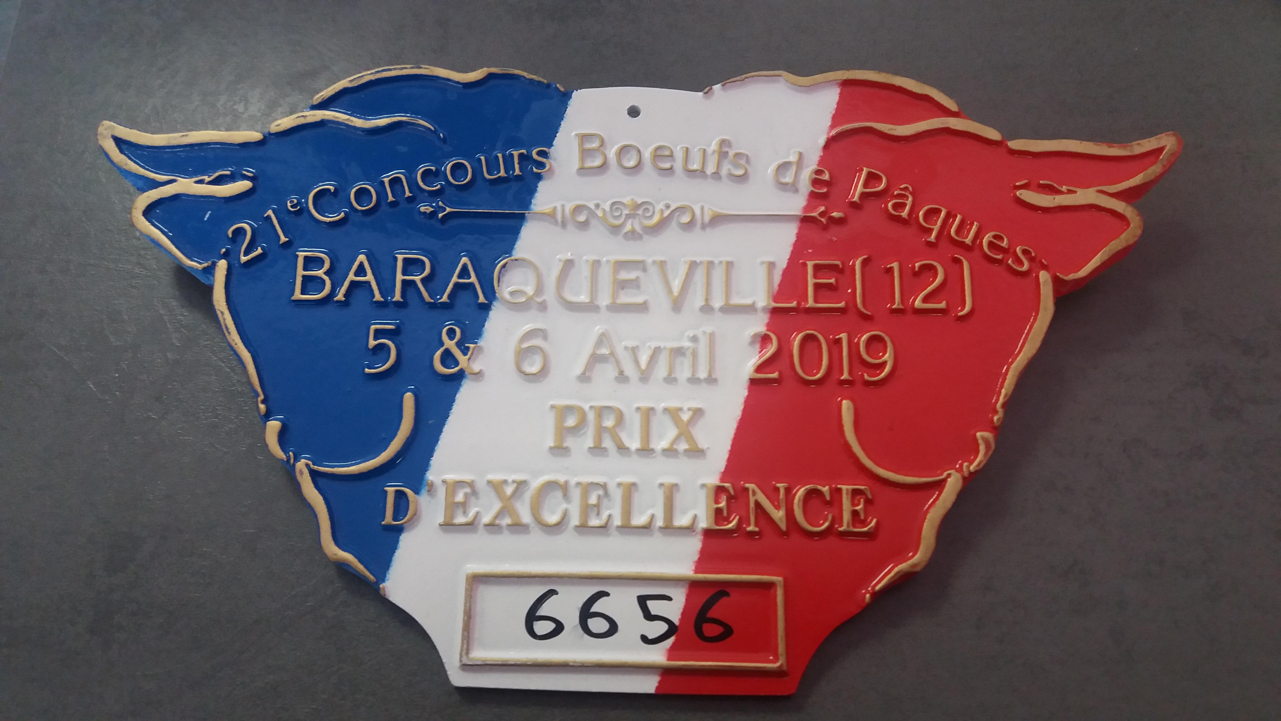 """Génisse Limousine """"Prix d'excellence"""" au concours de Baraqueville"""